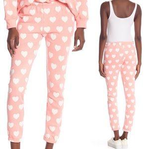 Wildfox Baby Love Heart Print Pants